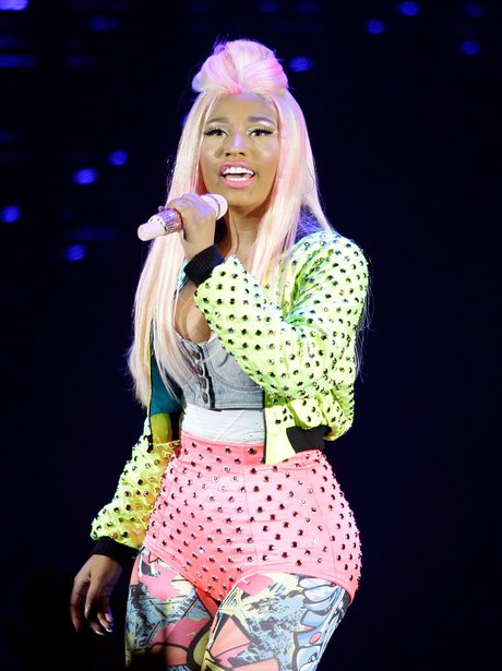 Nicki Minaj performs on stage