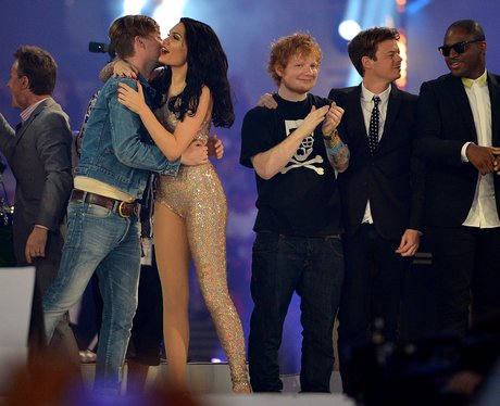 Jessie J and Taio Cruz at the Olympic closing ceremony.