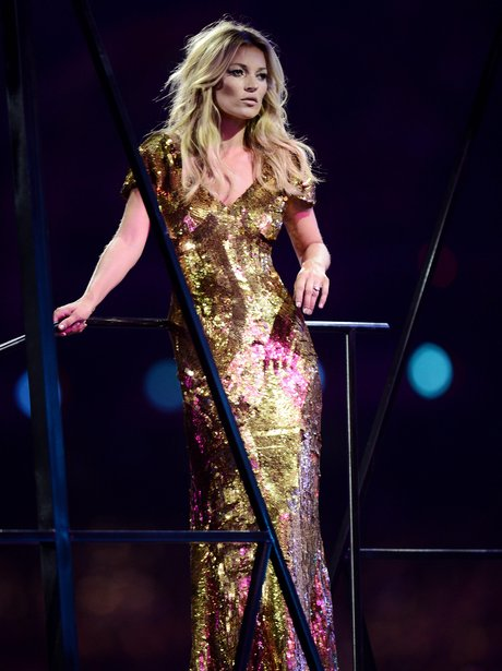 Kate Moss at the Olympics closing ceremony.