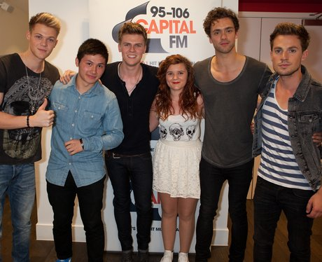Lawson meet fans at their Capital FM session.