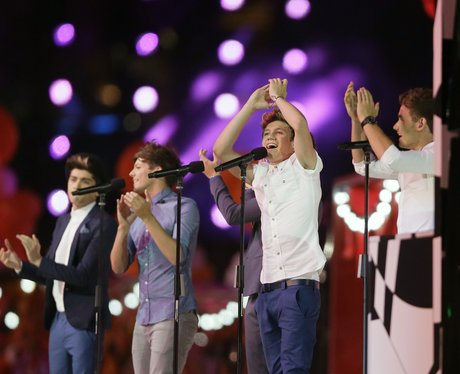 One Direction live at the Olympics closing ceremony.