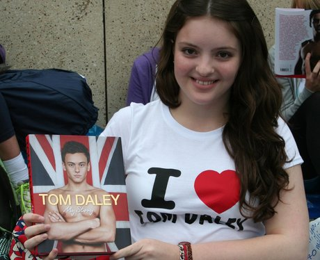 Tom Daley fan at book signing