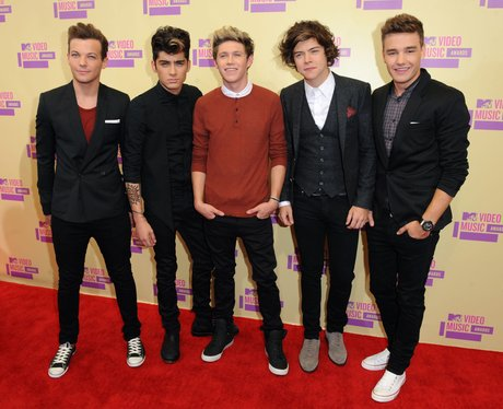 One Direction at the MTV VMA's 2012.