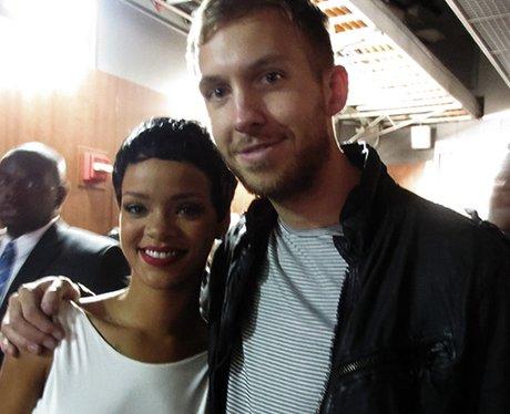 Rihanna and Calvin at the VMAs