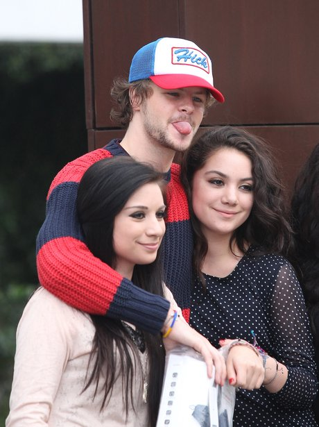 The Wanted's Jay McGuiness with fans.