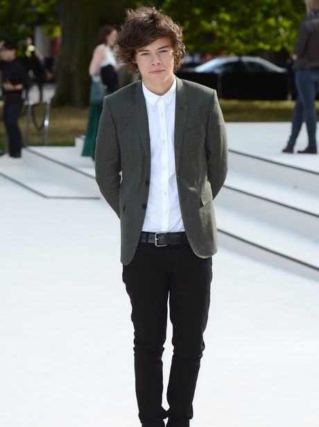 Harry Styles at London Fashion Week.