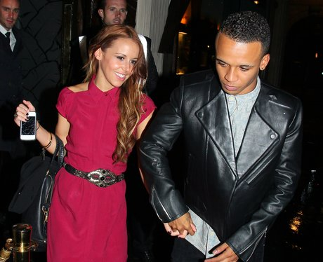 Aston Merrygold and his new girlfriend Sarah Richards