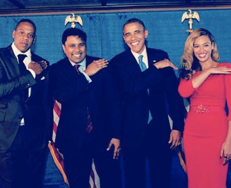 Beyonce. Jay-Z and Obama Dance