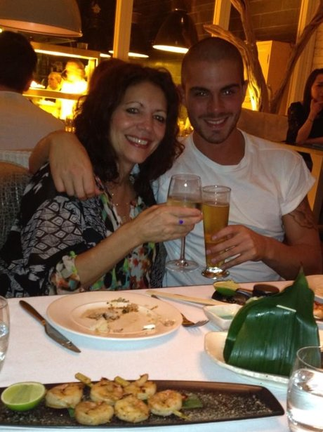 Max George out for dinner
