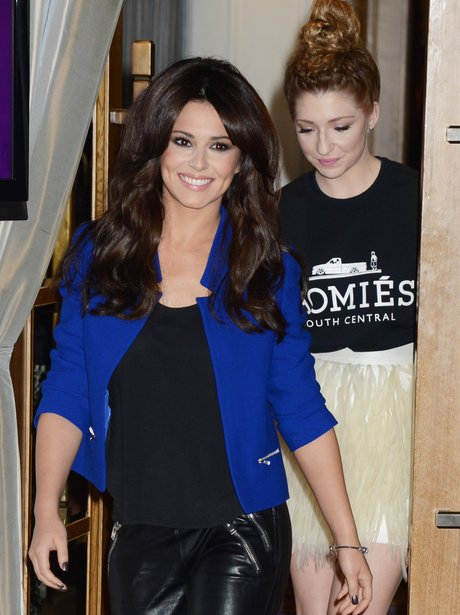 Cheryl Cole of Girls Aloud poses at a press conference