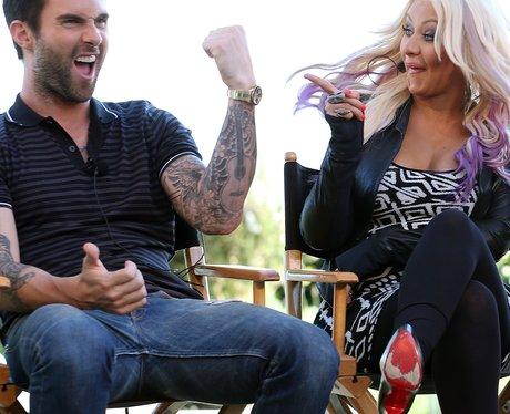 Christina Aguilera and Adam Levine