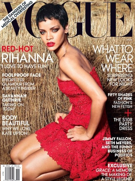 Rihanna covers the new Vogue issue.