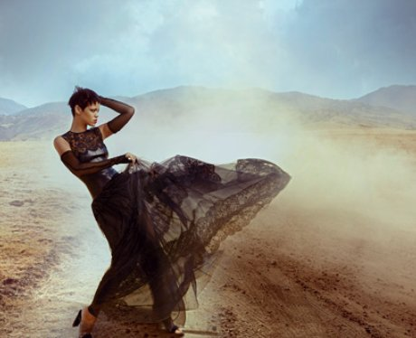 Rihanna in her Vogue US shoot.