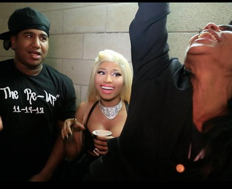 Nicki Minaj backstage
