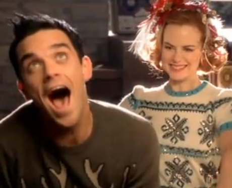 Robbie Williams and Nicole Kidman in their 'Something Stupid' music video