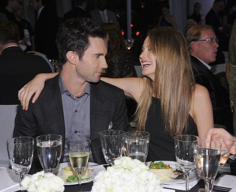 dam Levine and Behati Prinsloo attend the 2012 GQ