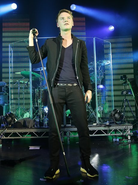 Conor Maynard live on stage in London