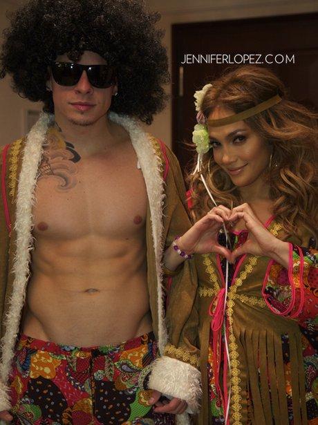 Jennifer Lopez and Casper Smart in fancy dress.