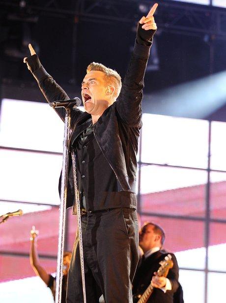 Robbie Williams live on stage