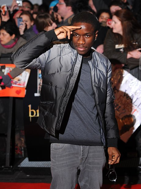 Tinchy Stryder on the red carpet of The Twilight Saga premiere