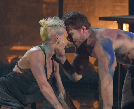 Pink performs at the American Music Awards