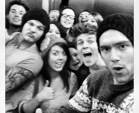 Lawson with fans in Lift