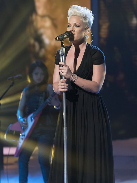 Pink performs on 'The X Factor Live Results Show'