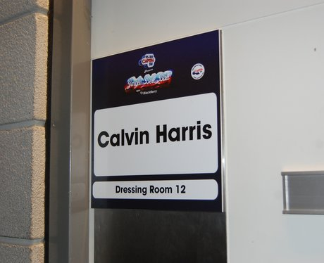 Calvin Harris Dressing Room At The Jingle Bell Bal