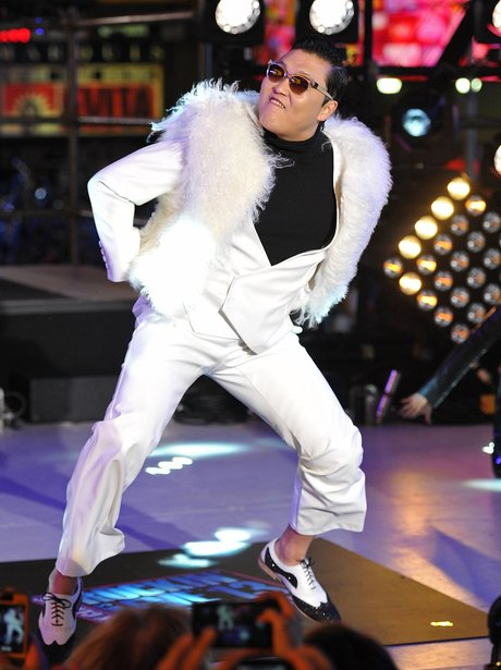 Rapper PSY performs during New Year's Eve