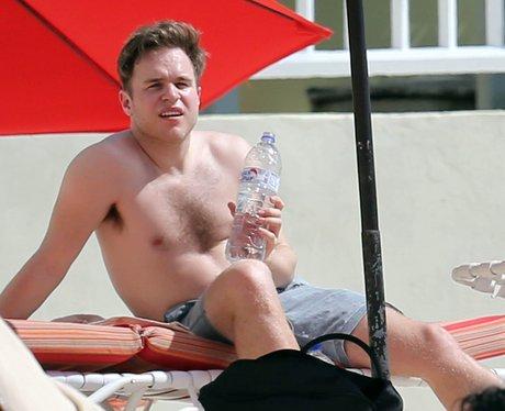 Olly Murs on the beach in the Caribbean