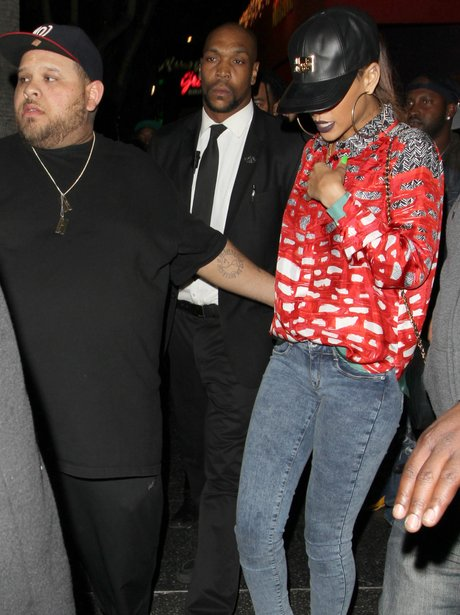 Rihanna leaving a nightclub in Los Angeles