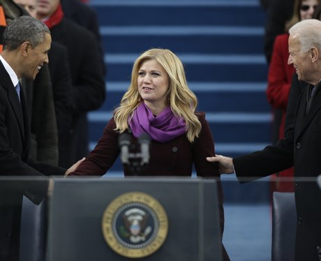 Kelly Clarkson At President Obama's Inauguration