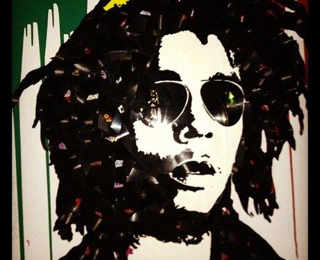 Rihanna shares a Bob Marley portrait on Instagram