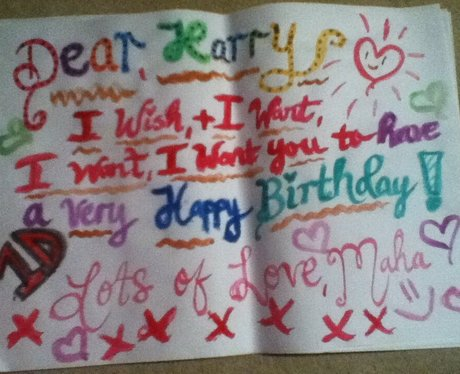 harry styles birthday card