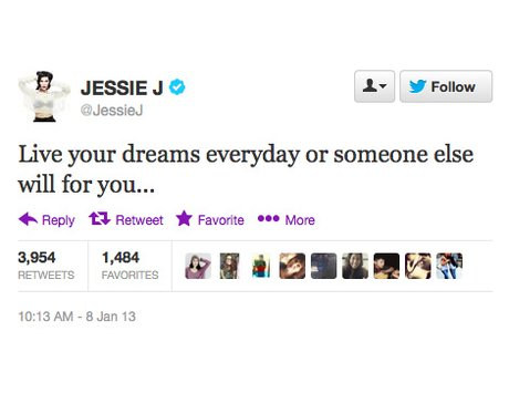 Jessie J's inspirational Twitter quotes