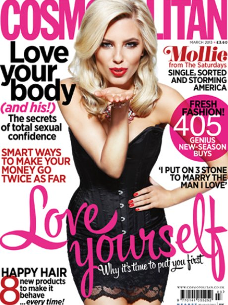 Mollie King covers the new issue of Cosmopolitan magazine