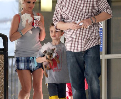 Britney Spears with her dogs