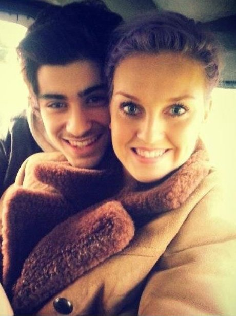 Perrie Edwards and Zayn Malik share a snap together