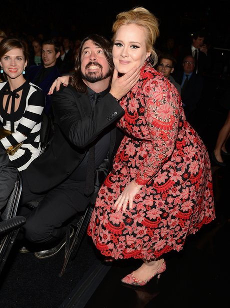 Adele and Dave Grohl Photobomb
