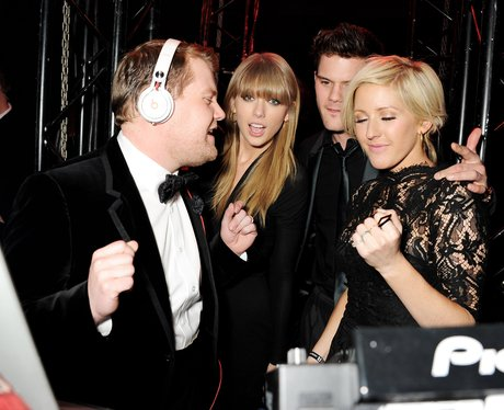 James Corden DJing with Taylor Swift and Ellie Goulding