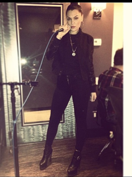Jessie J in the studio