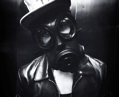 Justin Bieber Wearing Gas Mask