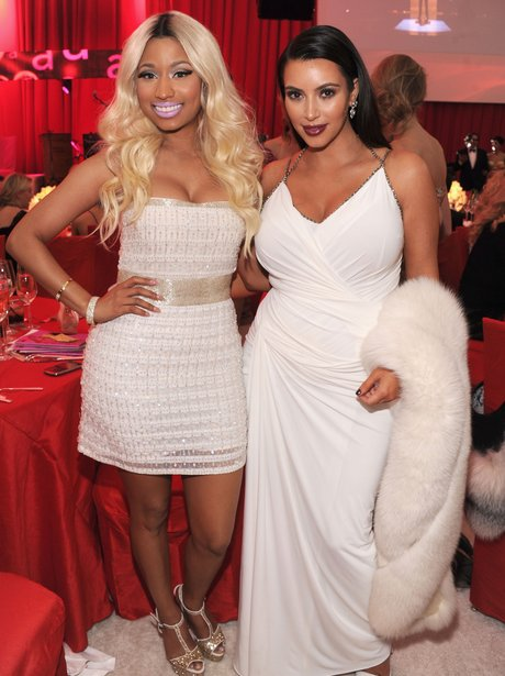 Nicki Minaj and Kim Kardashian at Elton John's party