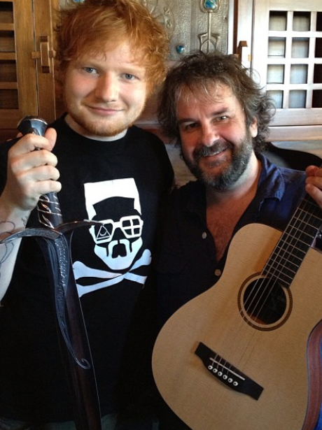 Ed Sheeran and Peter Jackson