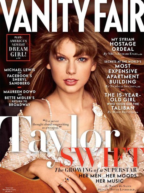 Taylor Swift on the cover of Vanity Fair magazine
