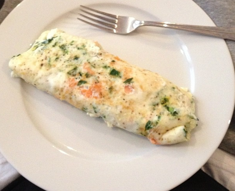 Calvin Harris cooks som smoked salmon and spinach