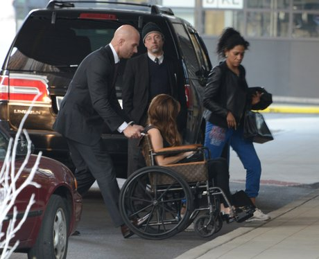 Lady Gaga in wheelchair after her surgery