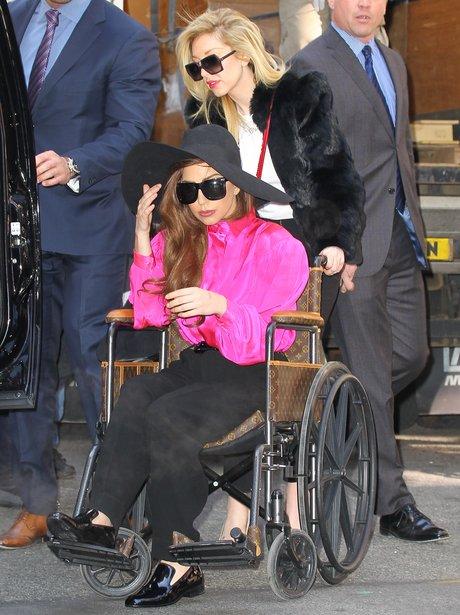 Lady Gaga seen in her wheelchair