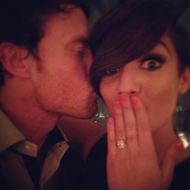 Frankie Sandford Engagement ring