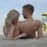 Image 9: Ellie Goulding kissing Calvin Harris' shoulder